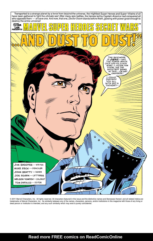 Read online Secret Wars (1985) comic -  Issue #11 - 2