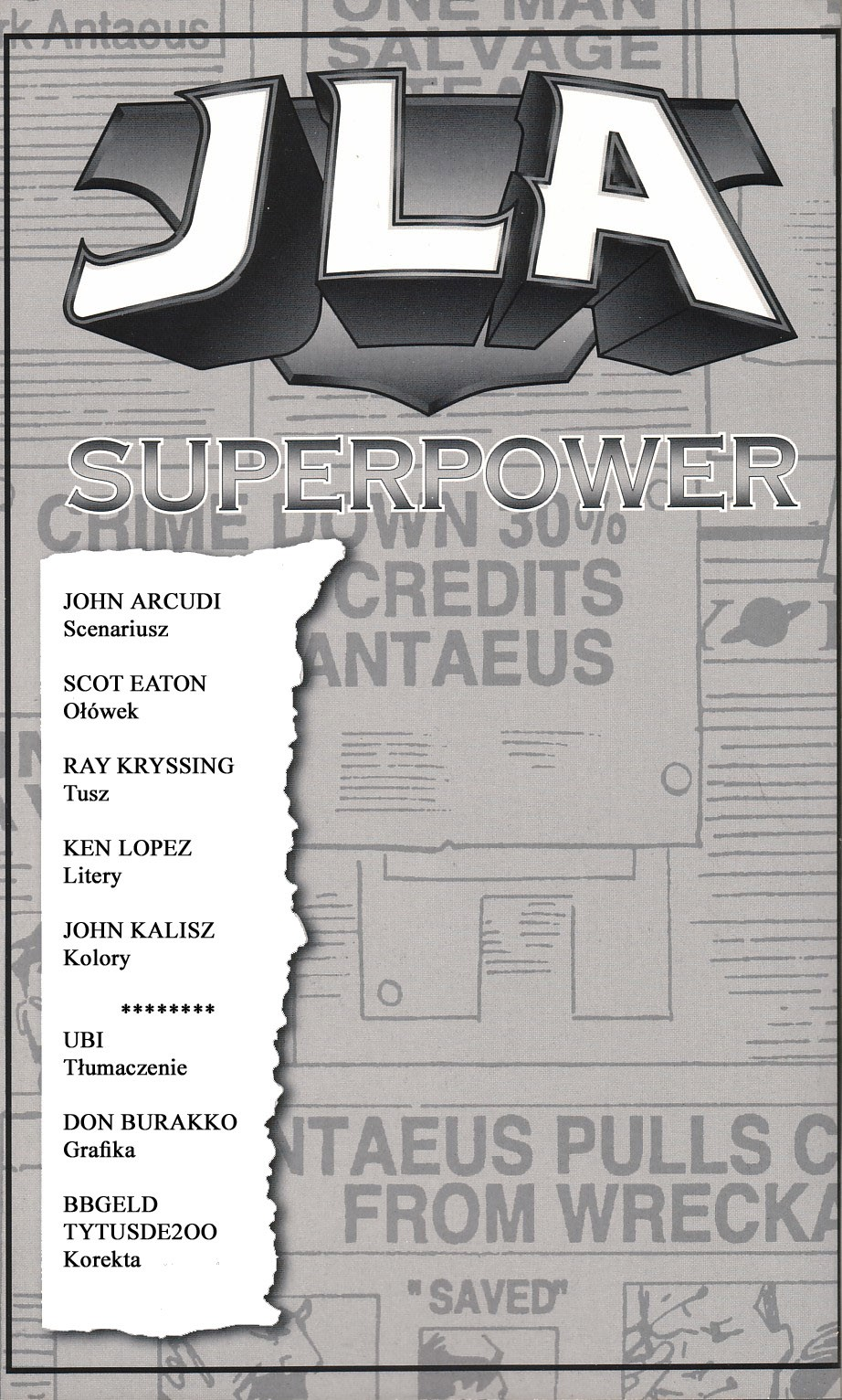 Read online JLA Superpower comic -  Issue # Full - 2