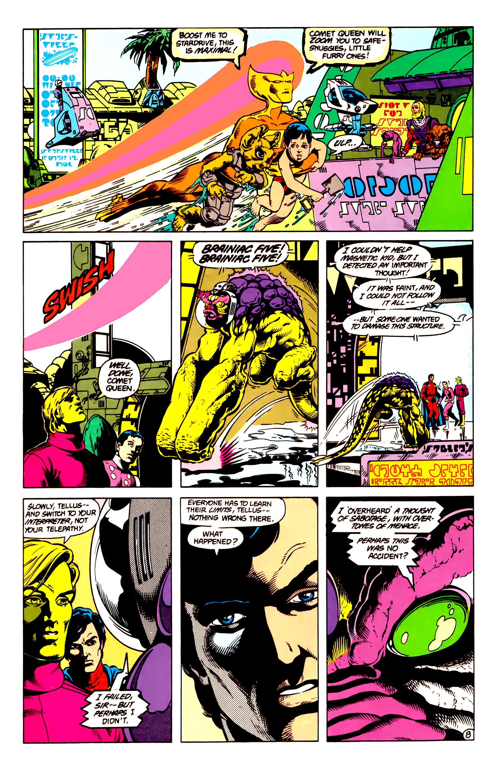 Legion of Super-Heroes (1984) 14 Page 9