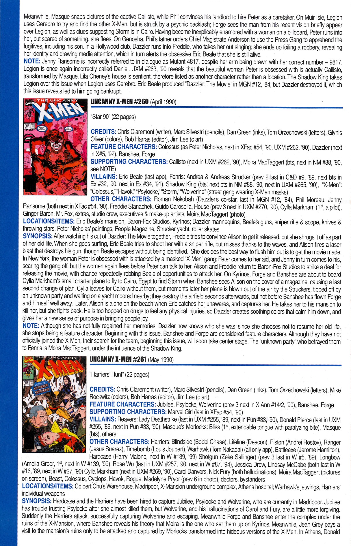 Read online Official Index to the Marvel Universe comic -  Issue #6 - 62
