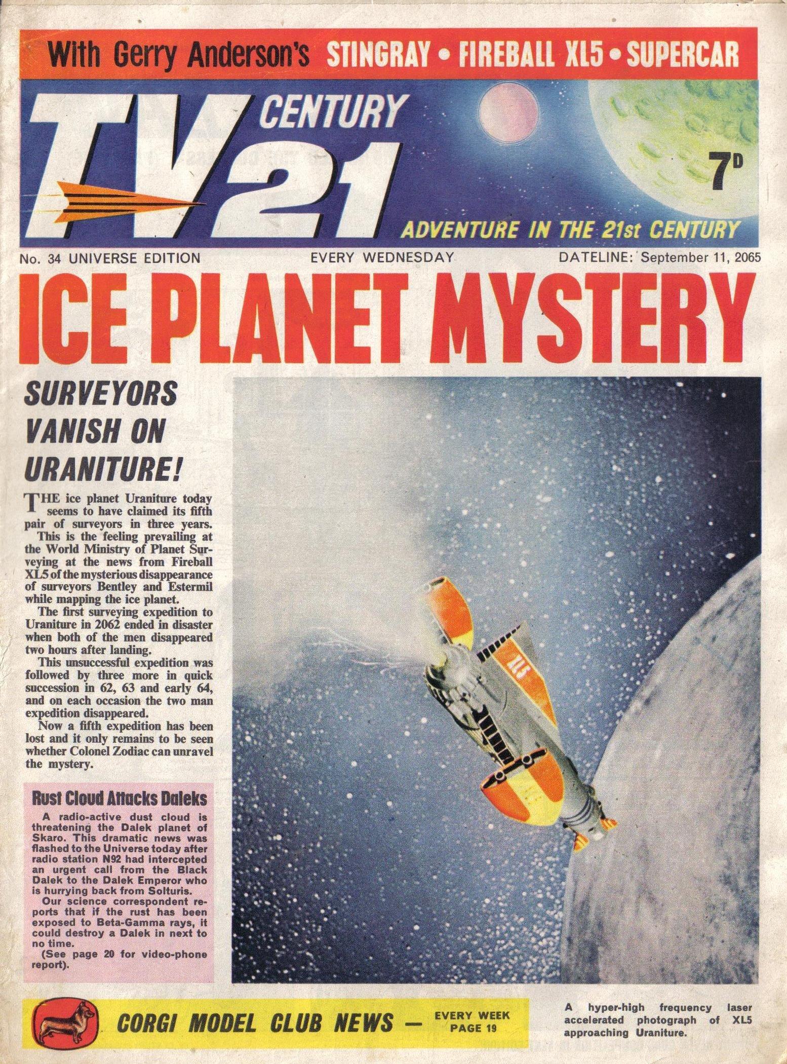 Read online TV Century 21 (TV 21) comic -  Issue #34 - 1