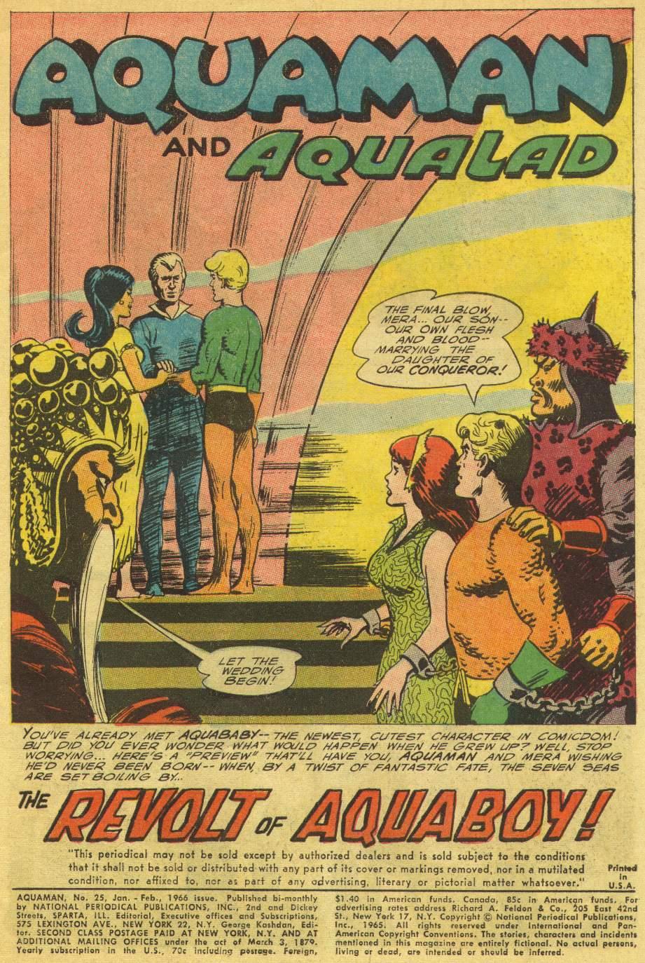 Read online Aquaman (1962) comic -  Issue #25 - 3