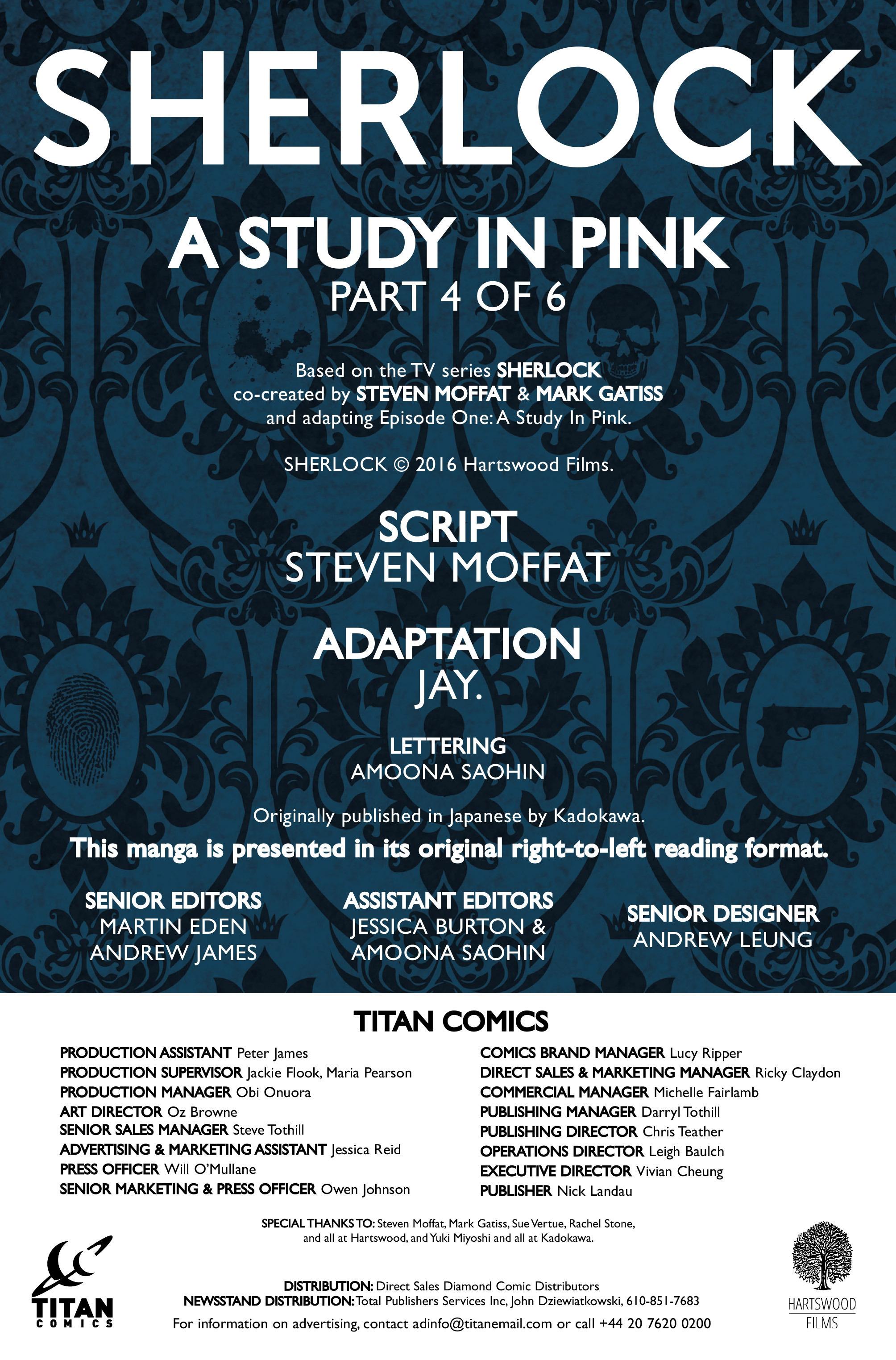 Read online Sherlock: A Study In Pink comic -  Issue #4 - 4