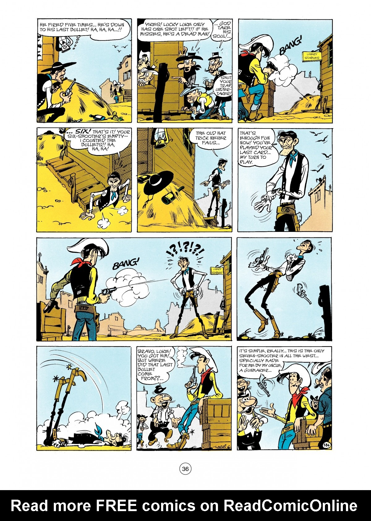 Read online A Lucky Luke Adventure comic -  Issue #40 - 36