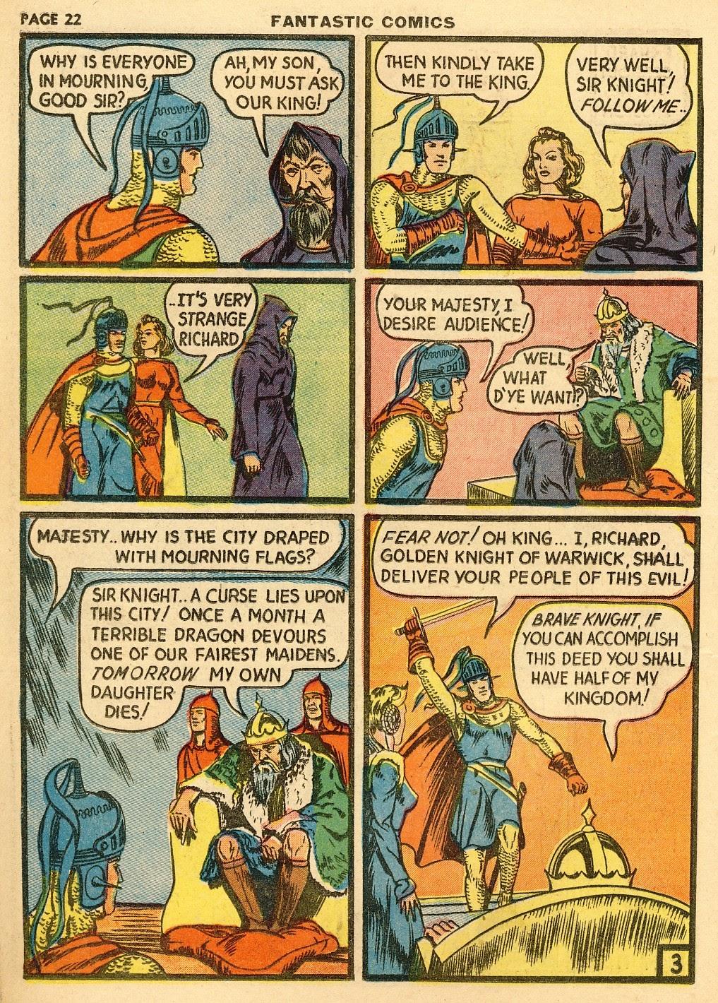 Read online Fantastic Comics comic -  Issue #10 - 23