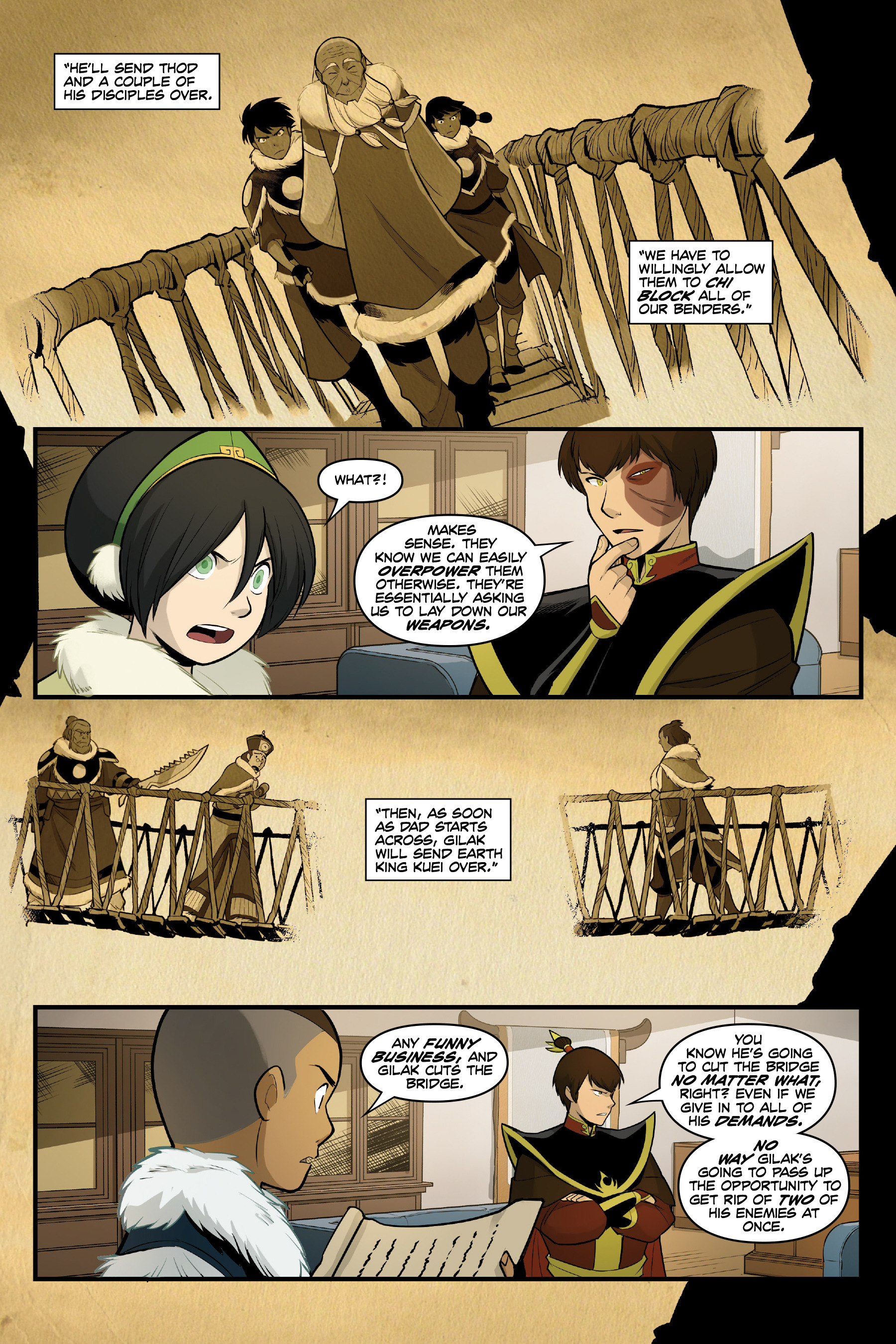 Read online Nickelodeon Avatar: The Last Airbender - North and South comic -  Issue #3 - 44