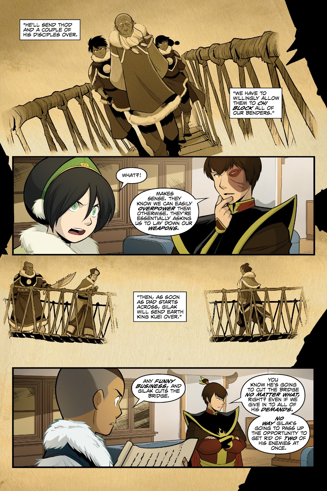 Nickelodeon Avatar: The Last Airbender - North and South issue 3 - Page 44