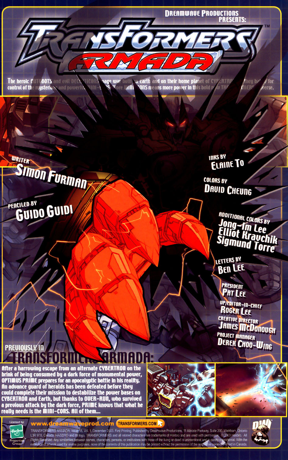 Read online Transformers Armada comic -  Issue #18 - 2