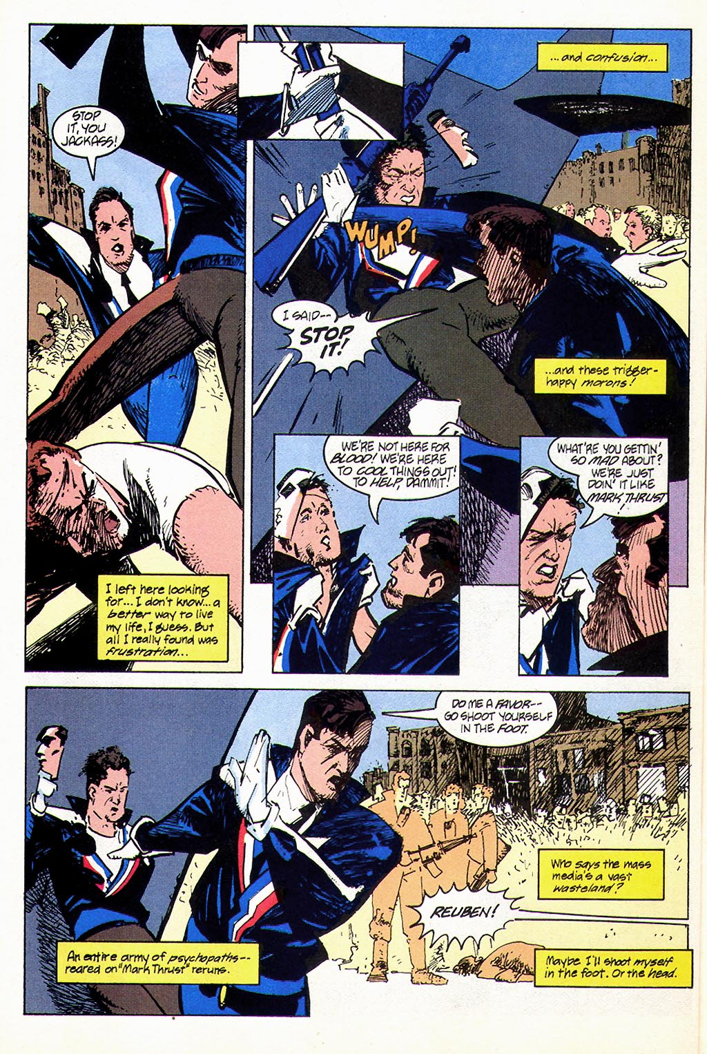 Read online American Flagg! comic -  Issue #45 - 6