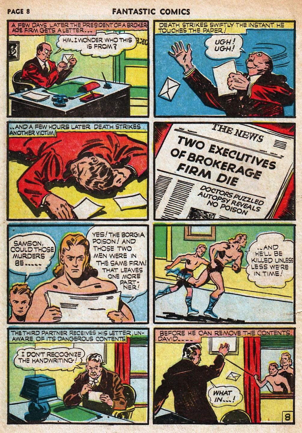 Read online Fantastic Comics comic -  Issue #18 - 10