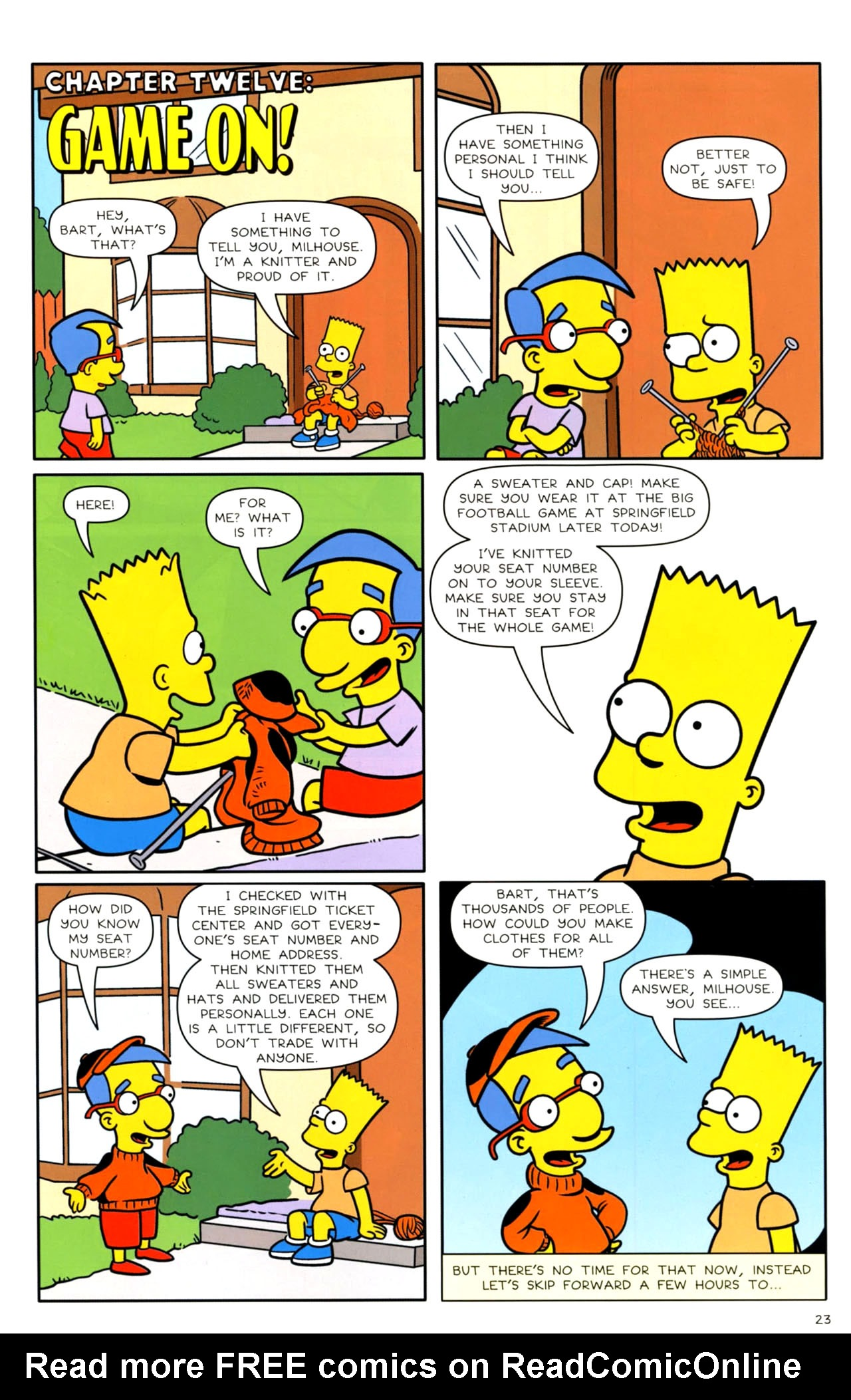 Read online Bongo Comics presents Comic Book Guy: The Comic Book comic -  Issue #4 - 25