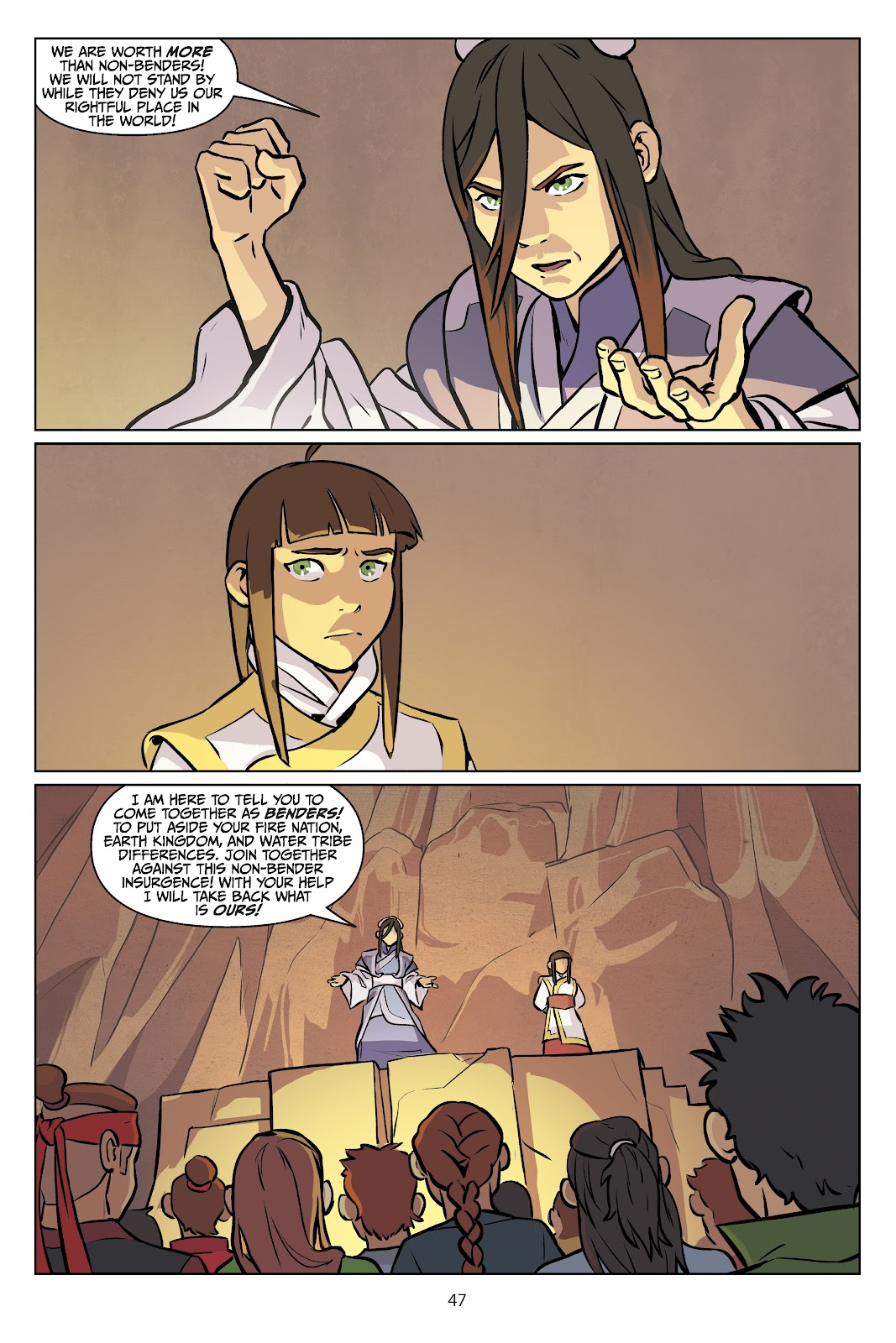 Read online Nickelodeon Avatar: The Last Airbender - Imbalance comic -  Issue # TPB 2 - 48
