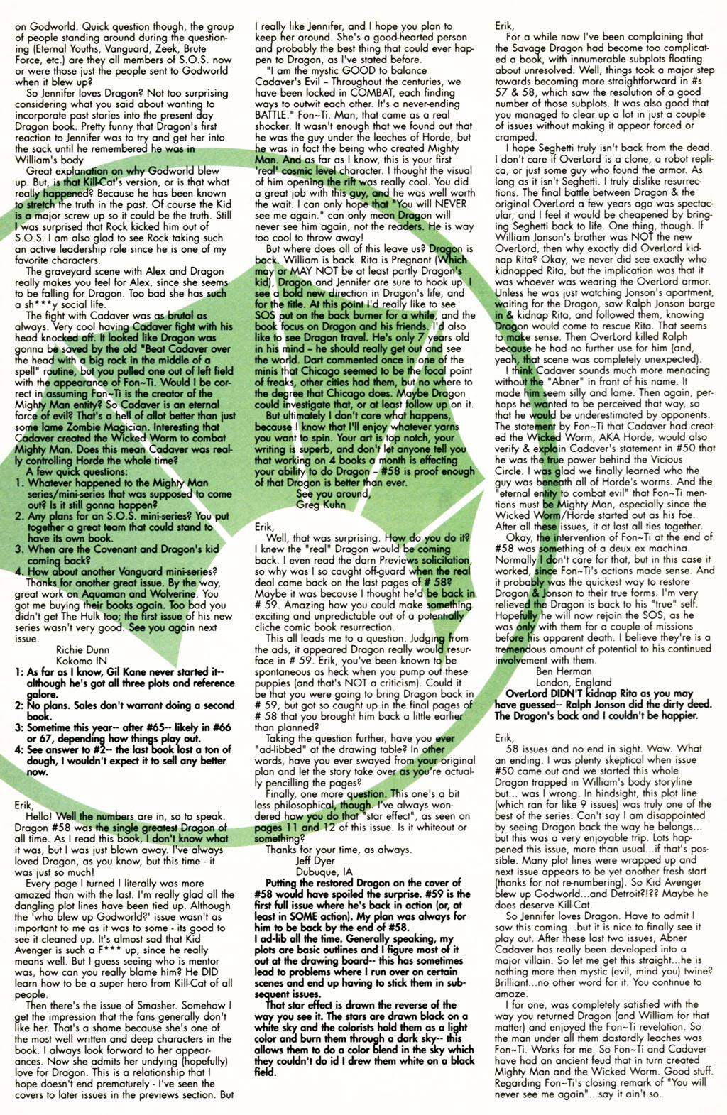 The Savage Dragon (1993) Issue #60 #63 - English 23