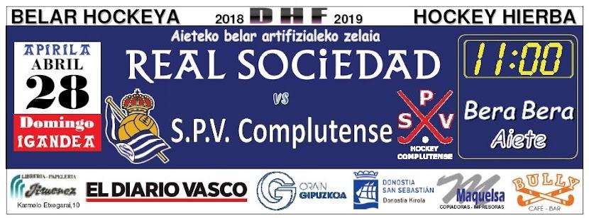 2019-04-28 Real Sociedad - S.P.V. Complutense. Faldón publicado en Pág. 66 del DV del sábado 27
