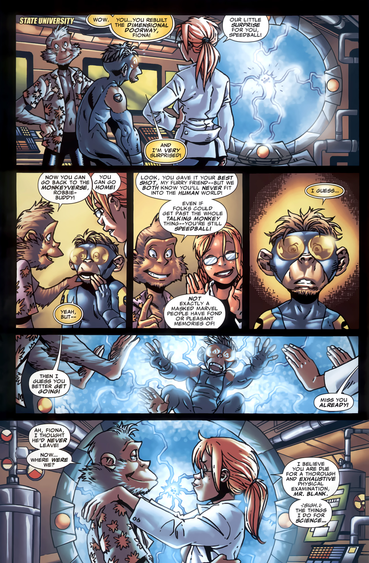 Read online Marvel Apes: Speedball Special comic -  Issue # Full - 3