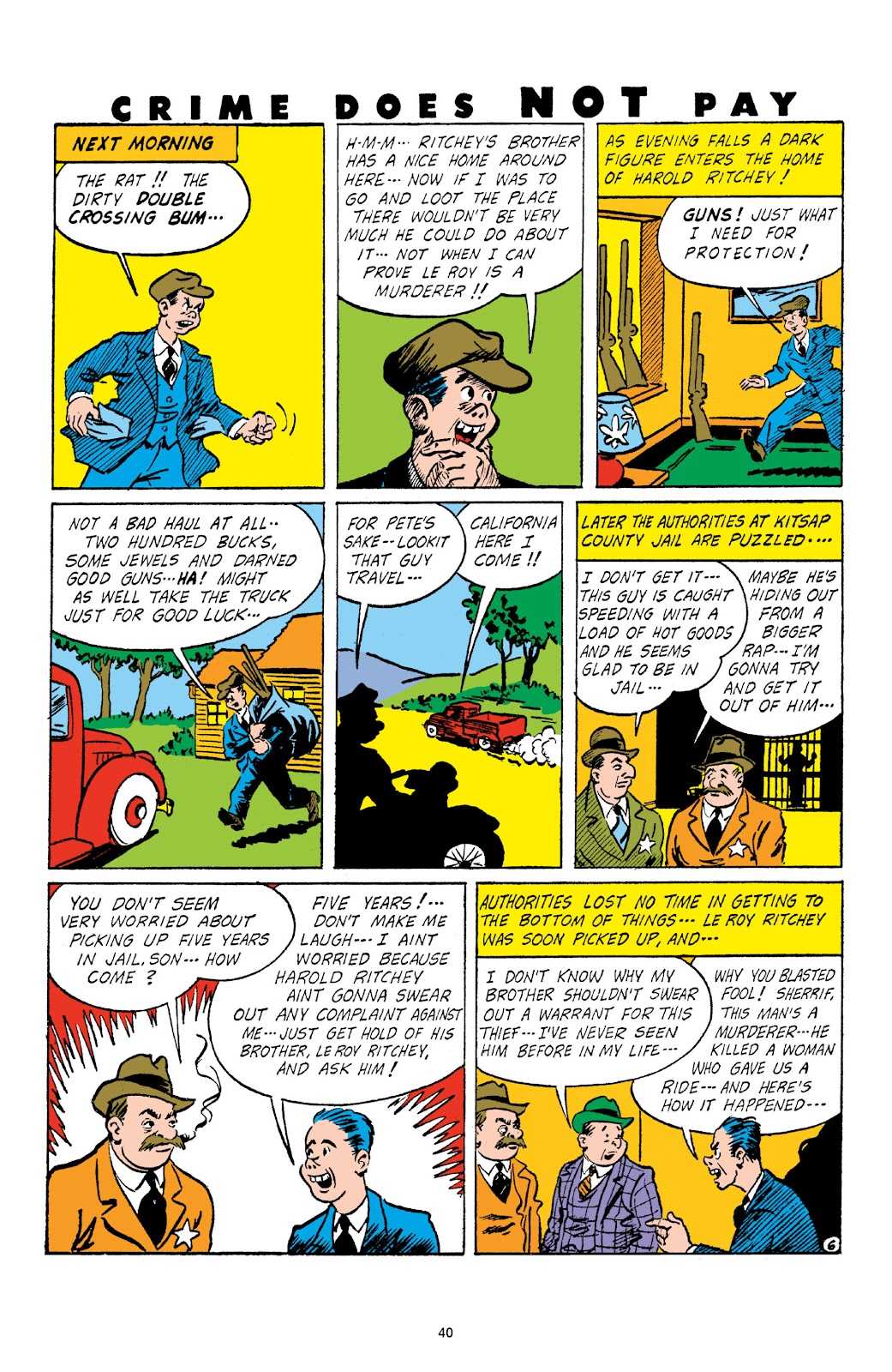 Read online Crime Does Not Pay Archives comic -  Issue # TPB 3 (Part 1) - 40