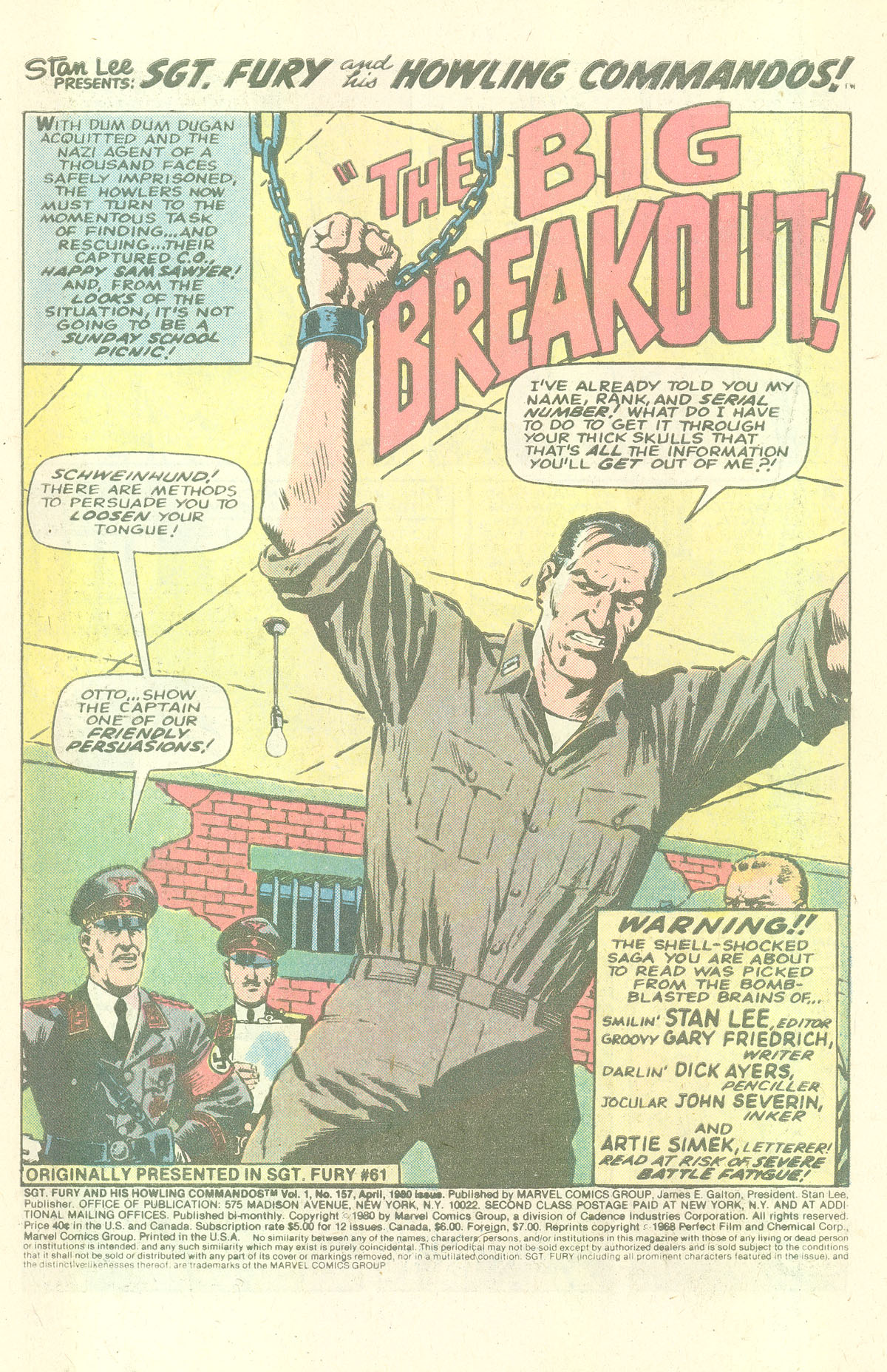 Read online Sgt. Fury comic -  Issue #157 - 3
