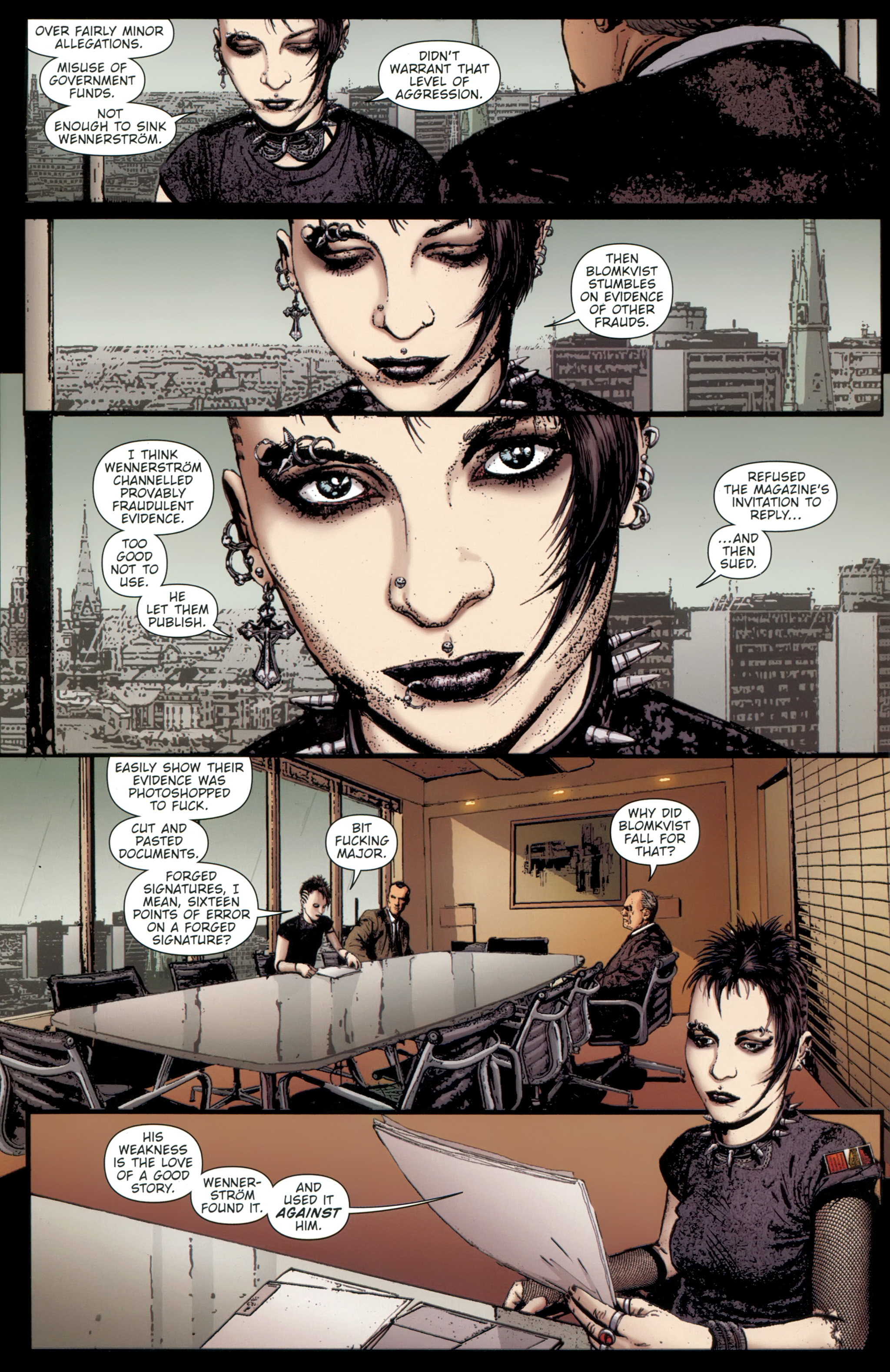 Read online The Girl With the Dragon Tattoo comic -  Issue # TPB 1 - 23