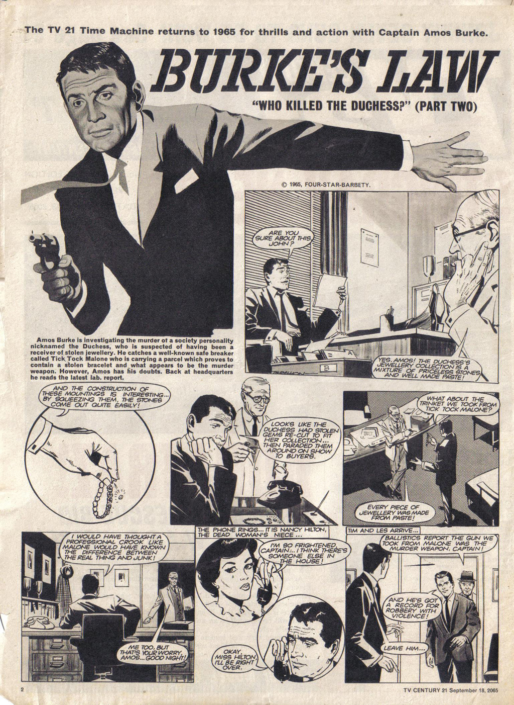 Read online TV Century 21 (TV 21) comic -  Issue #35 - 2