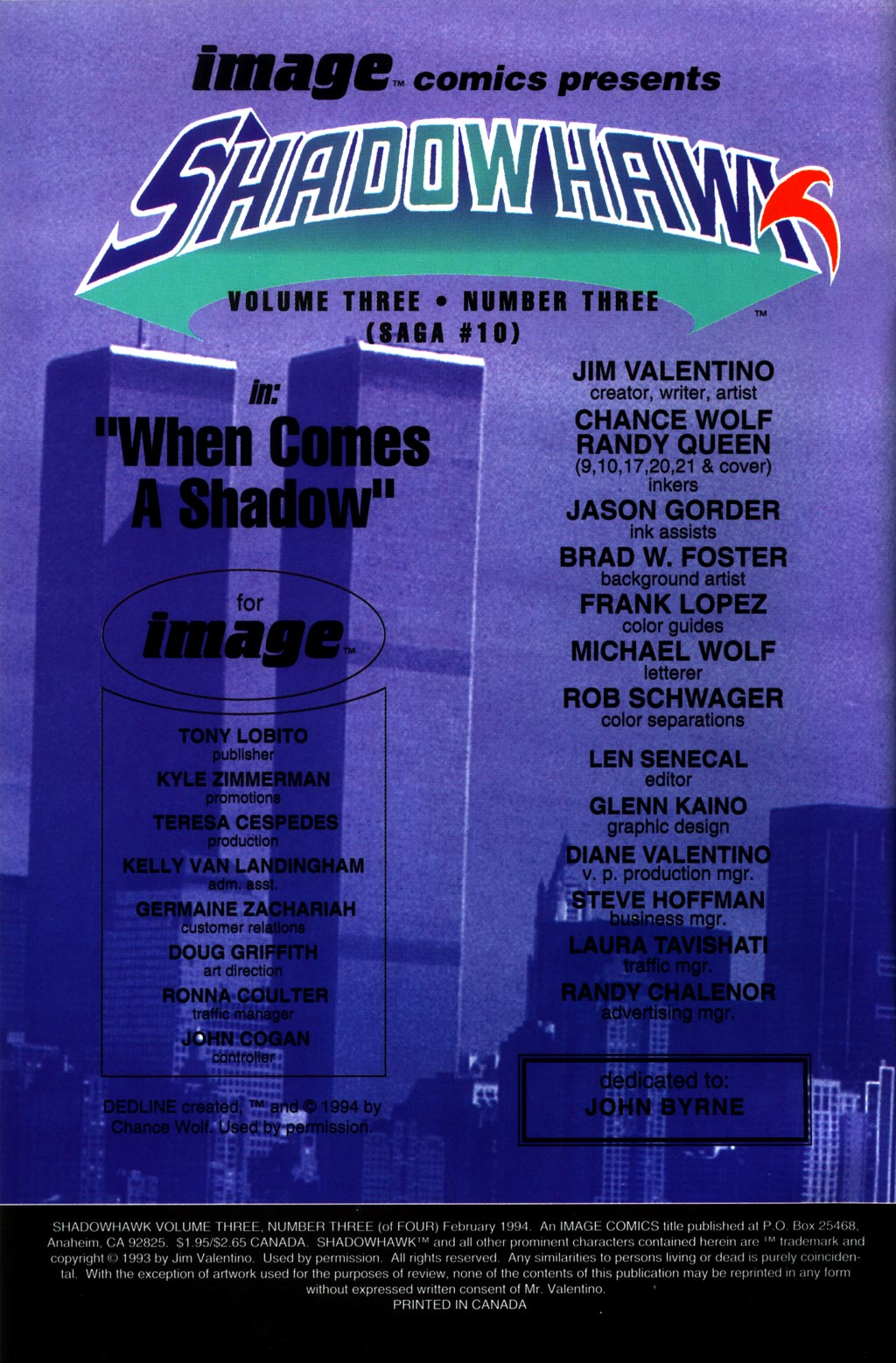 Read online ShadowHawk comic -  Issue #10 - 2