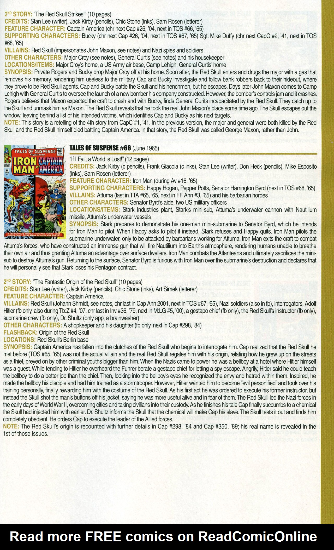 Read online Official Index to the Marvel Universe comic -  Issue #1 - 41