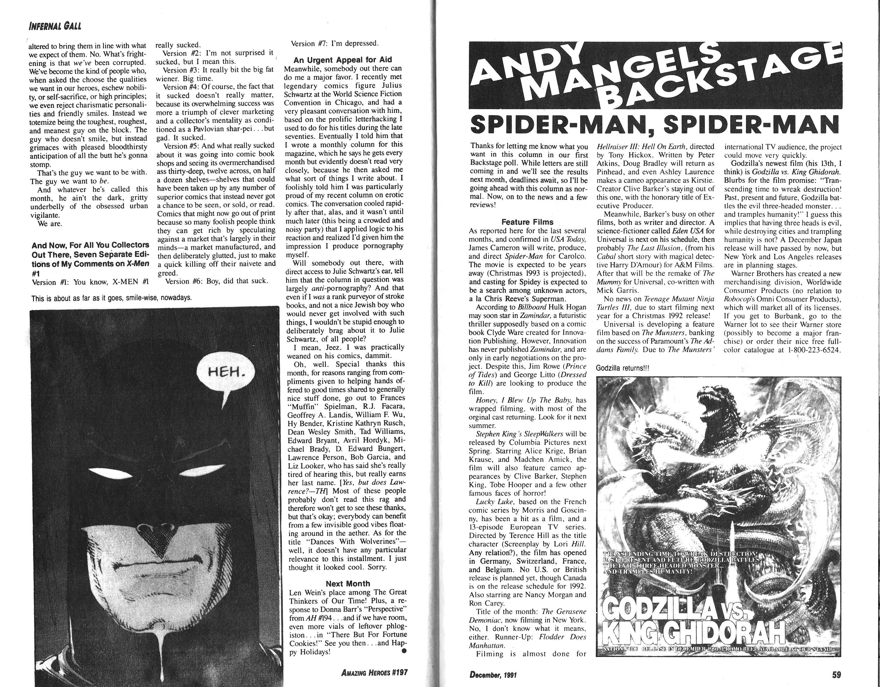 Read online Amazing Heroes comic -  Issue #197 - 30