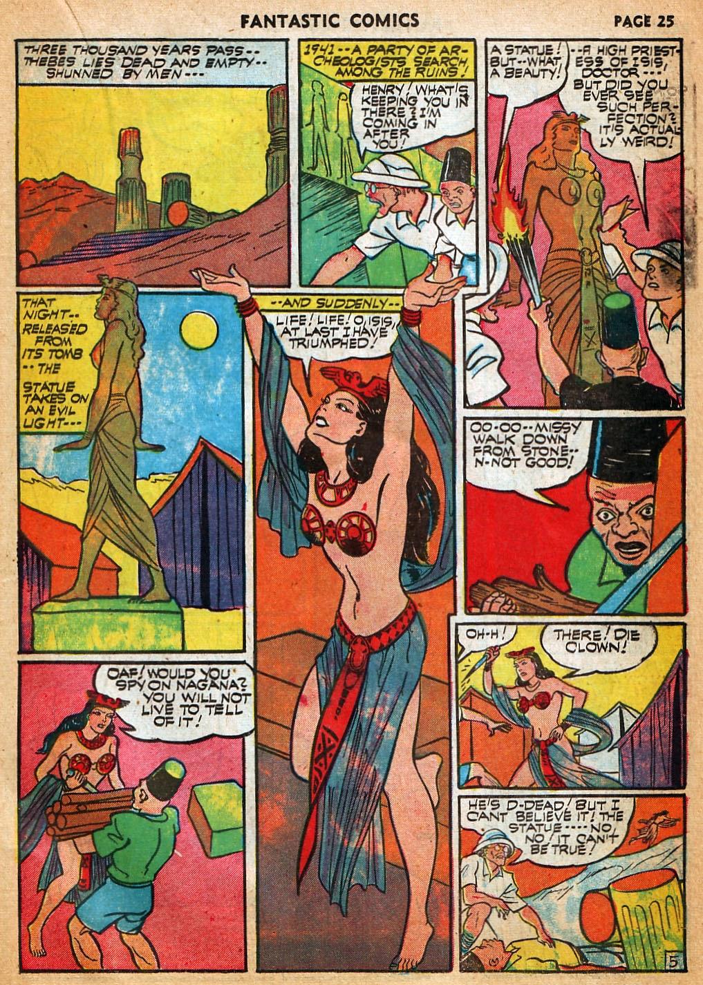 Read online Fantastic Comics comic -  Issue #22 - 27