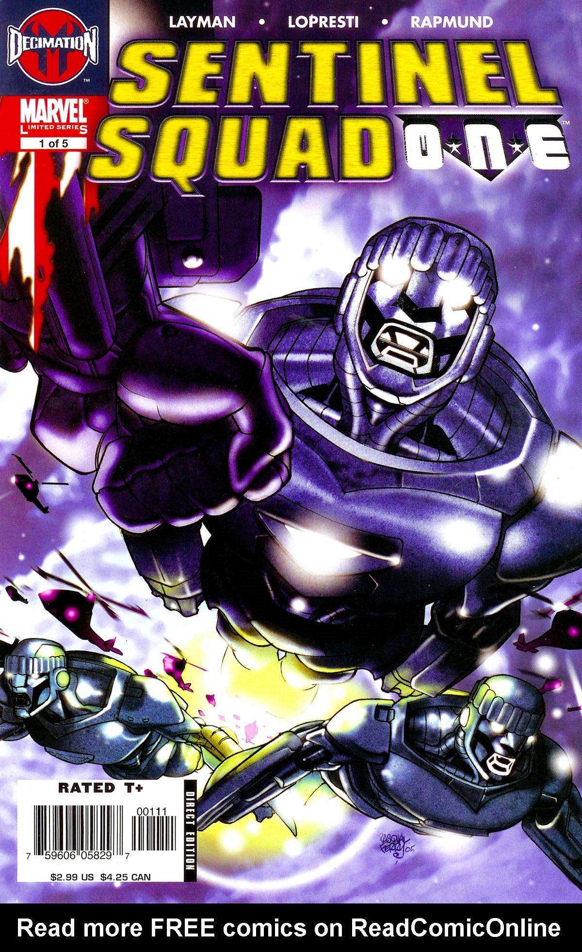 Read online Sentinel Squad O*N*E comic -  Issue #1 - 1