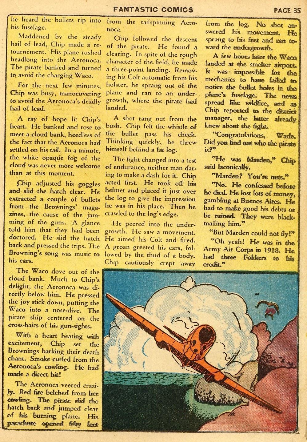 Read online Fantastic Comics comic -  Issue #10 - 36