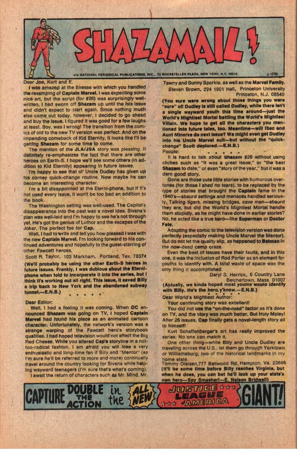 Read online Shazam! (1973) comic -  Issue #28 - 32