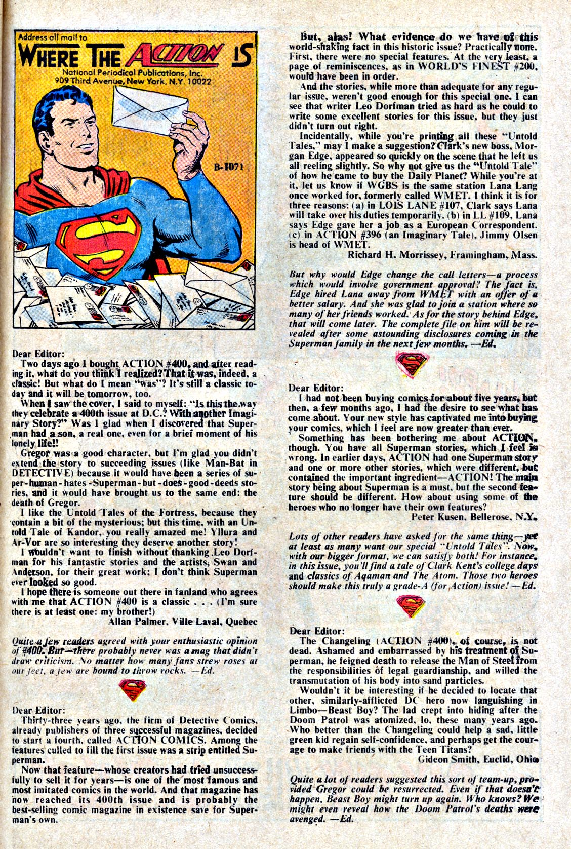 Read online Action Comics (1938) comic -  Issue #404 - 33
