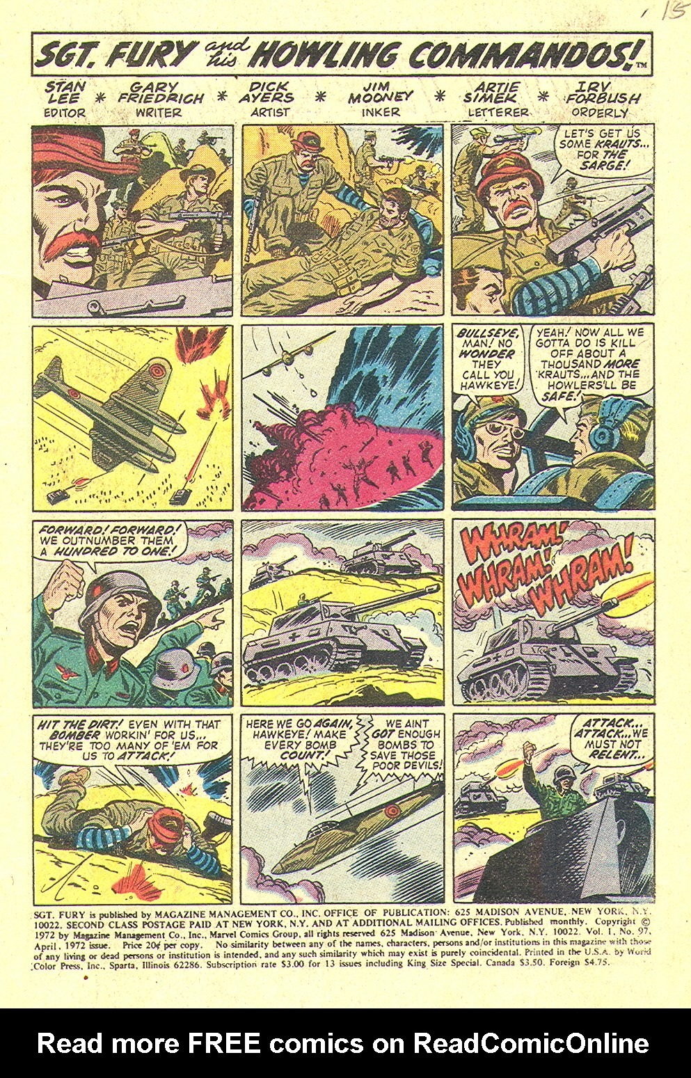 Read online Sgt. Fury comic -  Issue #97 - 3