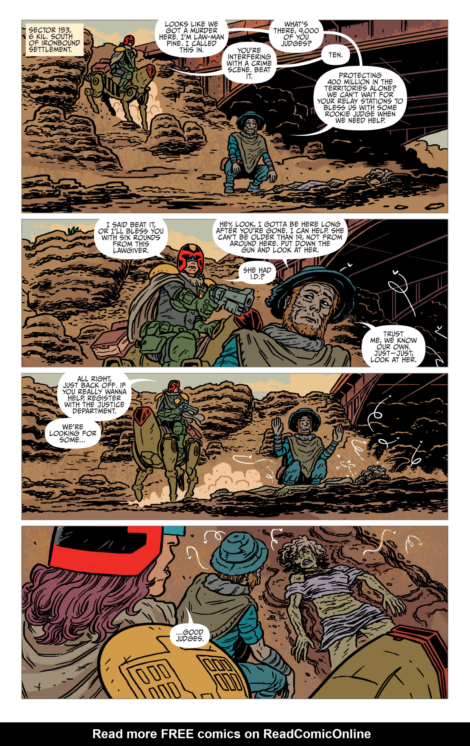 Read online Judge Dredd: The Blessed Earth comic -  Issue #1 - 9