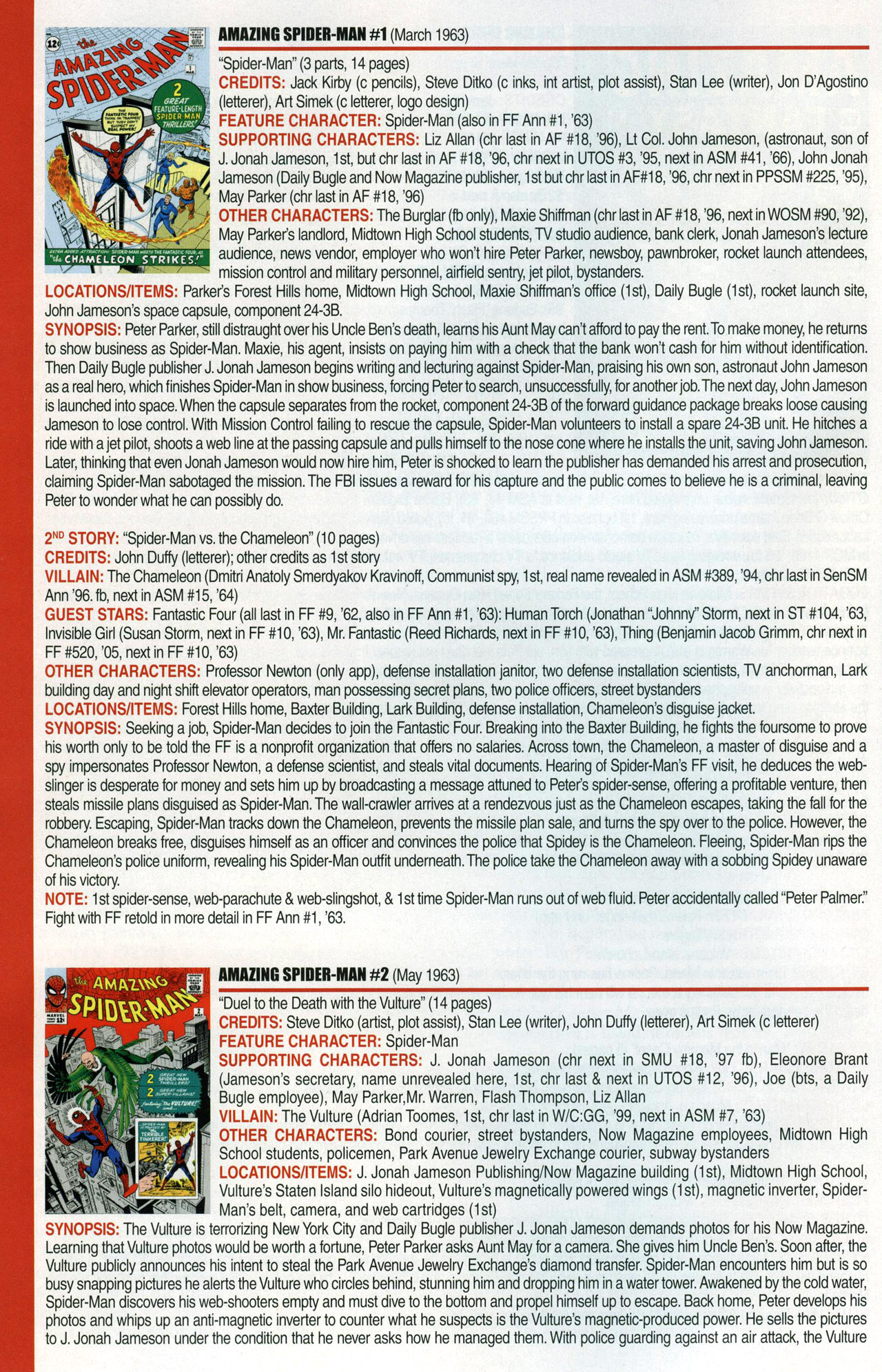 Read online Official Index to the Marvel Universe comic -  Issue #1 - 4