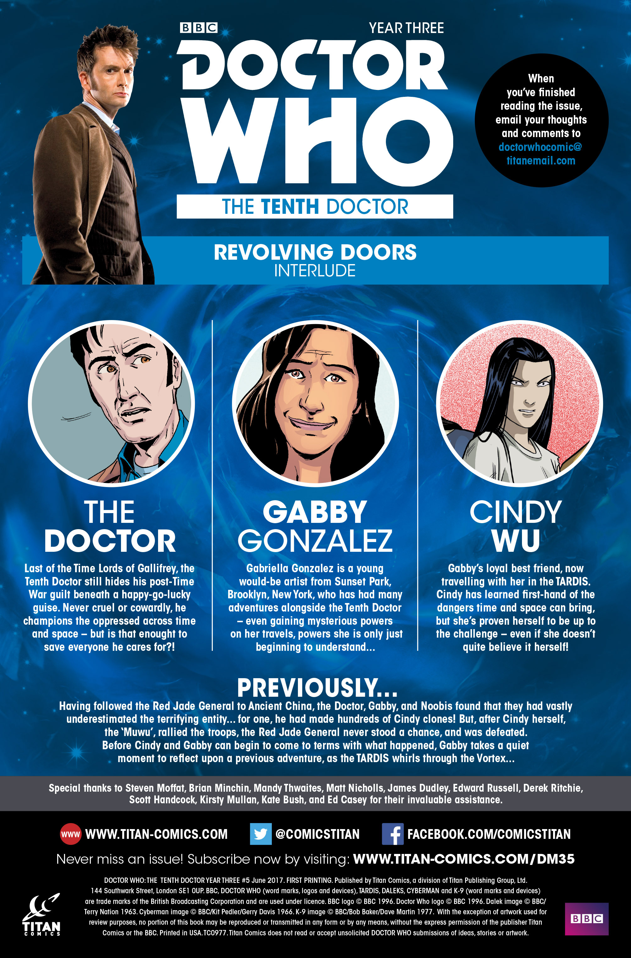 Read online Doctor Who: The Tenth Doctor Year Three comic -  Issue #5 - 5