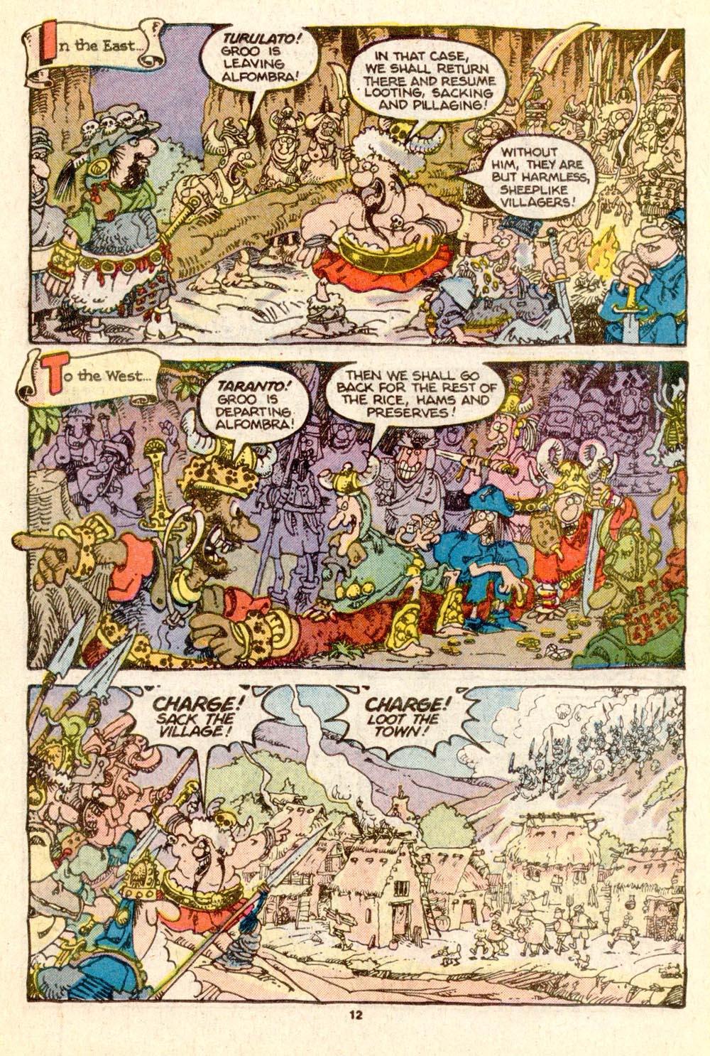 Read online Sergio Aragonés Groo the Wanderer comic -  Issue #25 - 12