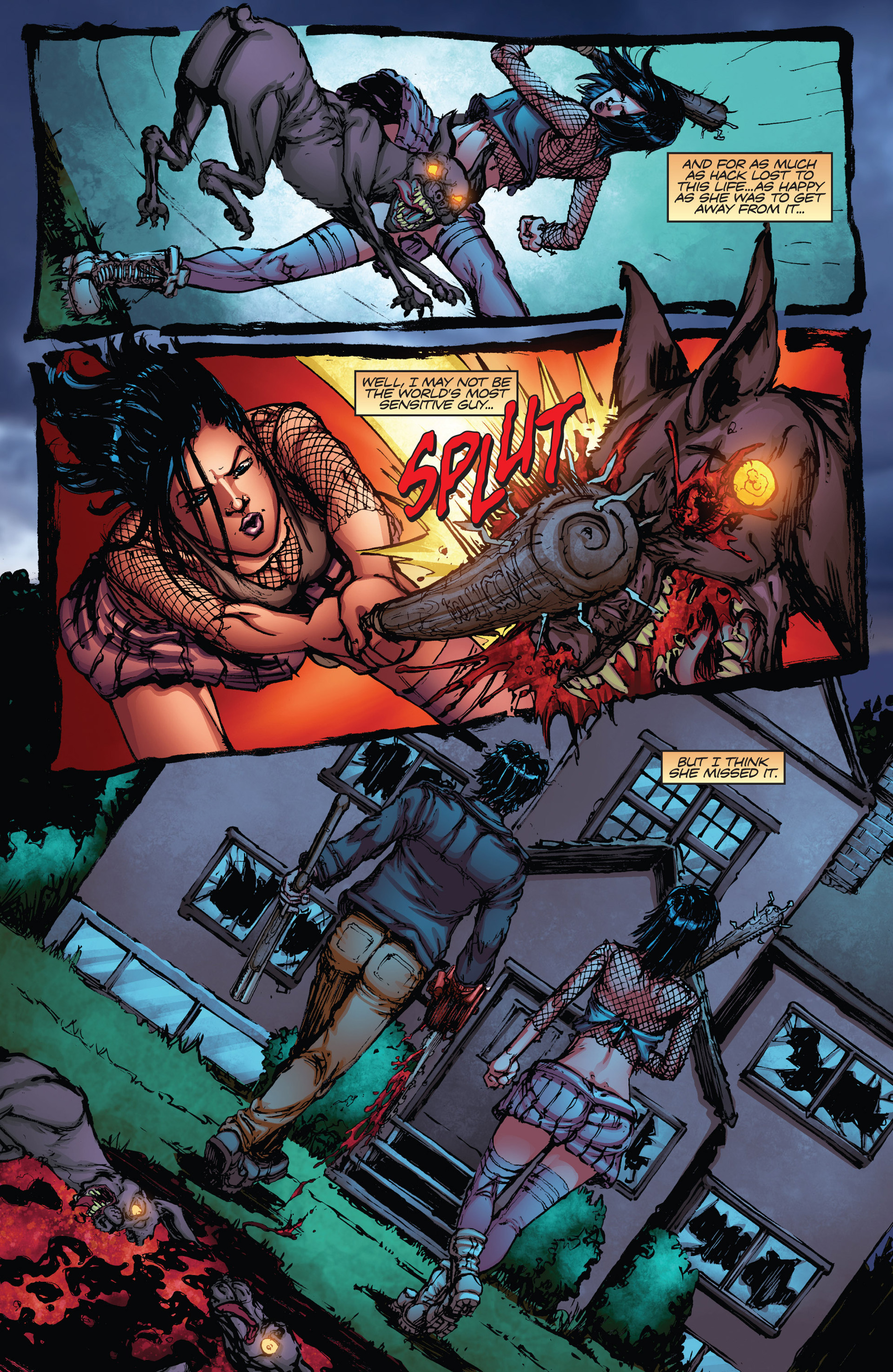Read online Army of Darkness vs. Hack/Slash comic -  Issue #2 - 22