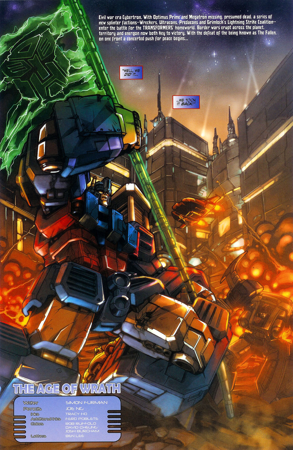 """Read online Transformers War Within: """"The Age of Wrath"""" comic -  Issue #1 - 5"""