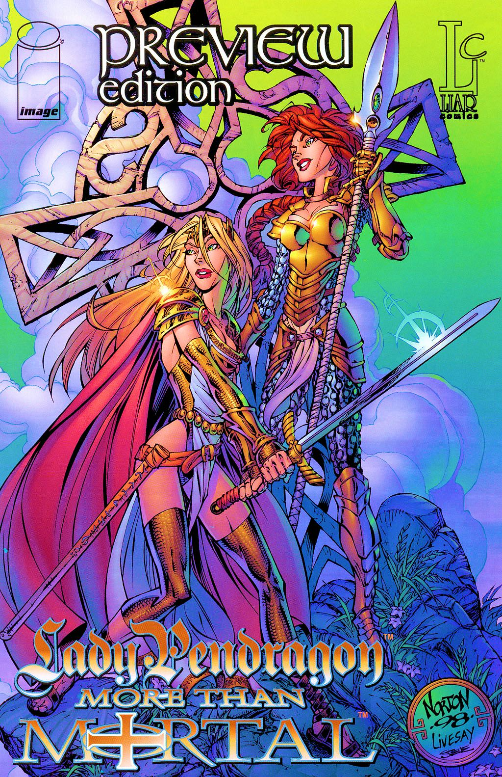 Read online Lady Pendragon / More Than Mortal comic -  Issue # _Preview - 1