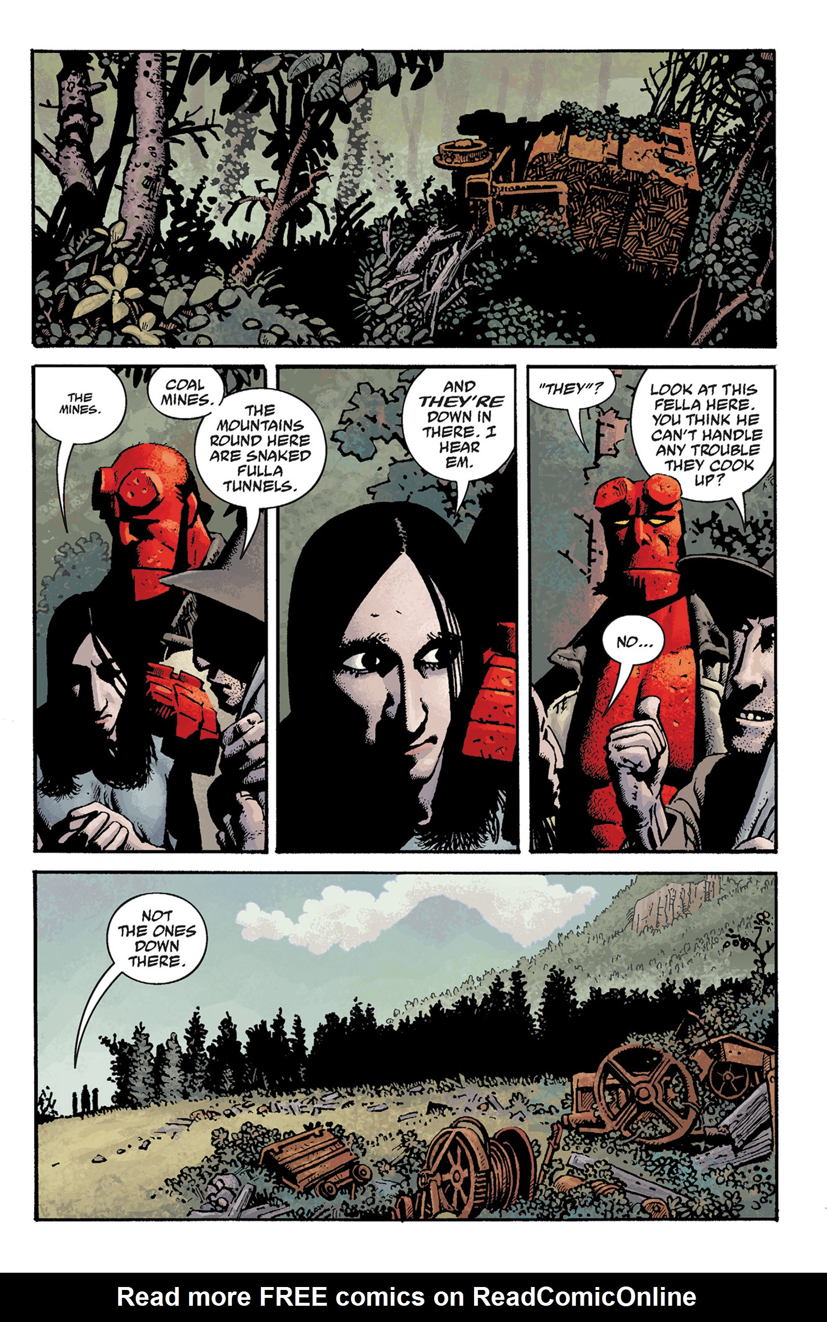 Read online Hellboy: The Crooked Man and Others comic -  Issue # TPB - 37