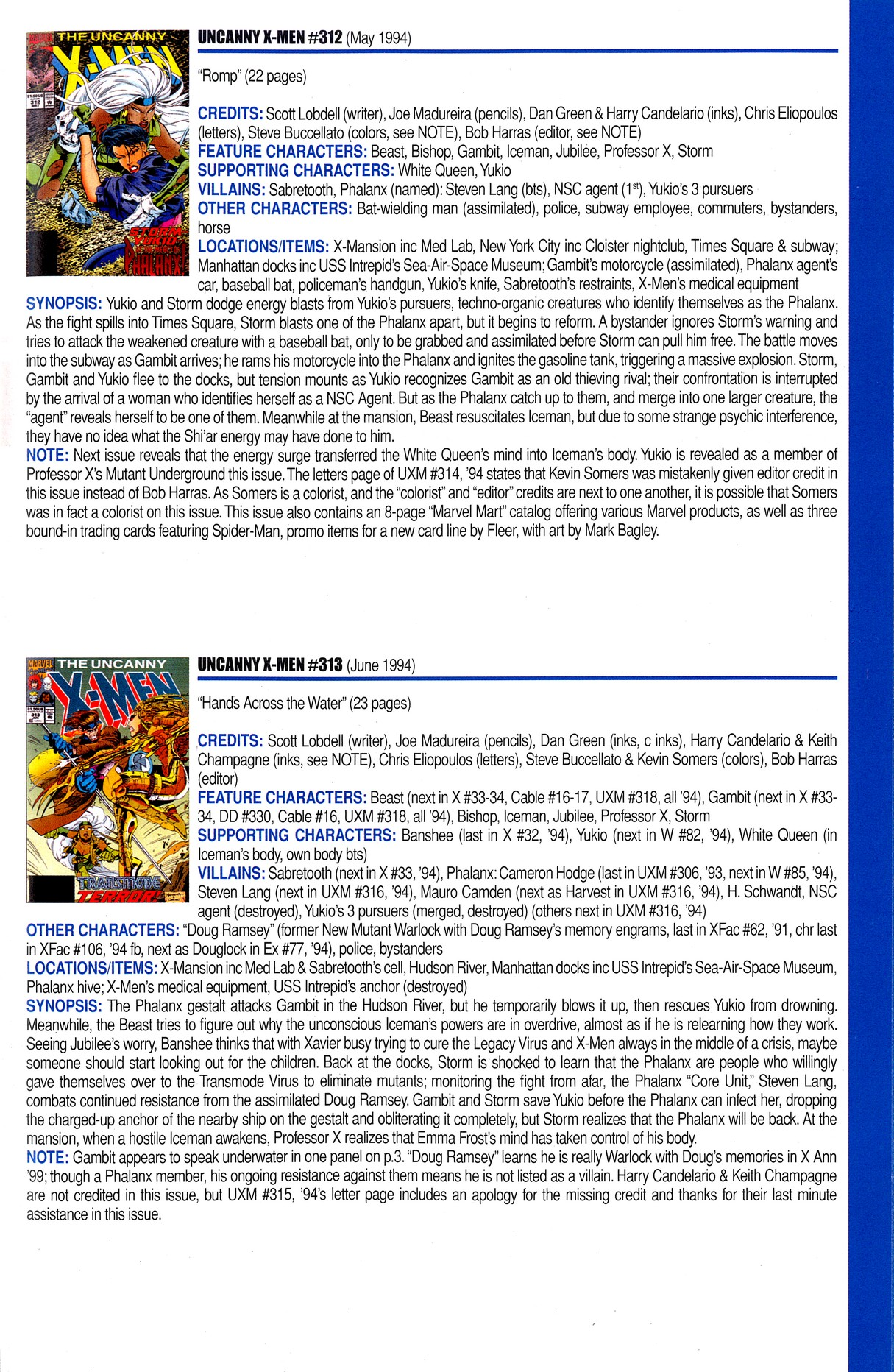 Read online Official Index to the Marvel Universe comic -  Issue #8 - 51