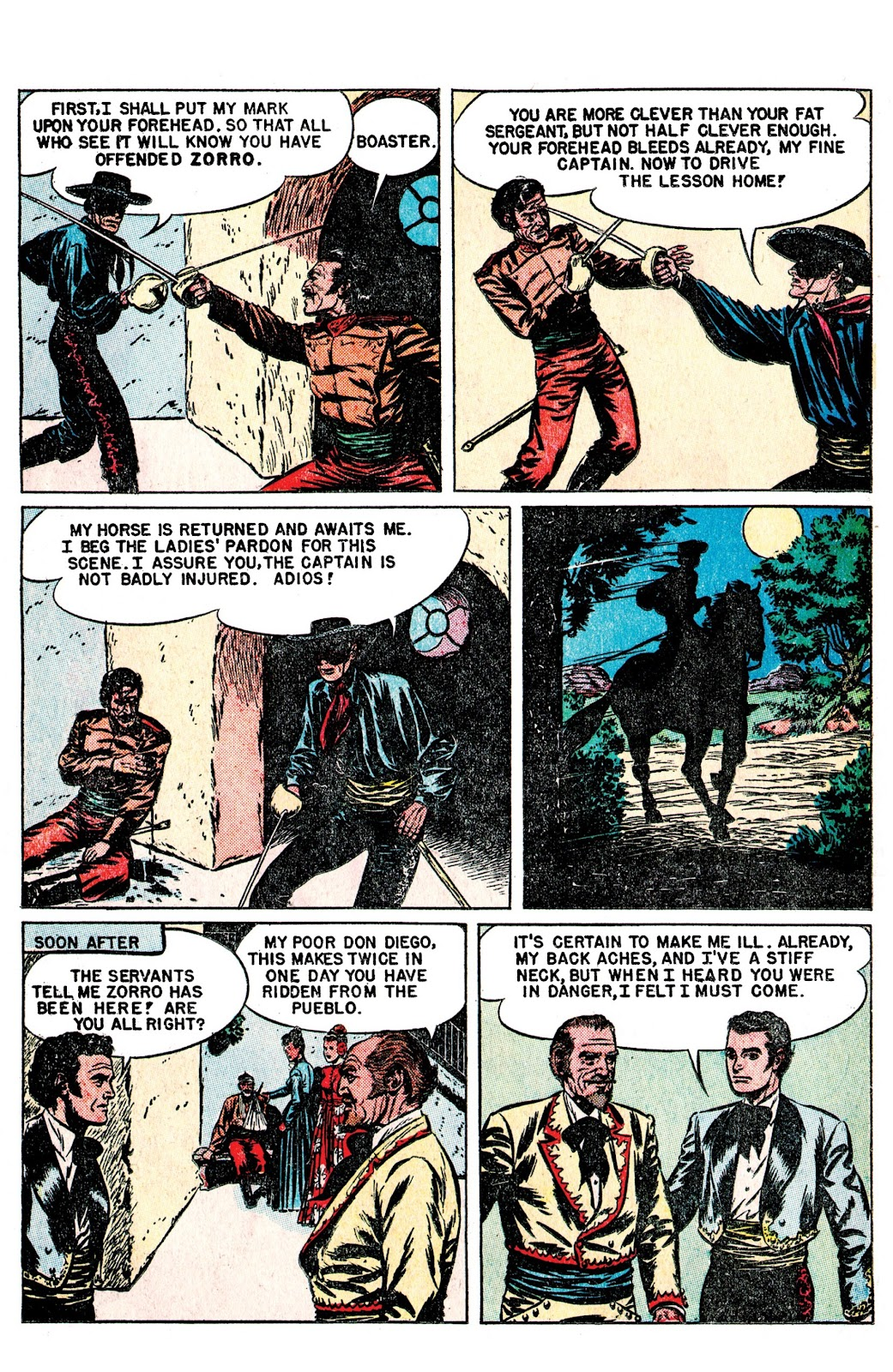 Read online AM Archives: The Mark of Zorro #1 1949 Dell Edition comic -  Issue #1 1949 Dell Edition Full - 11