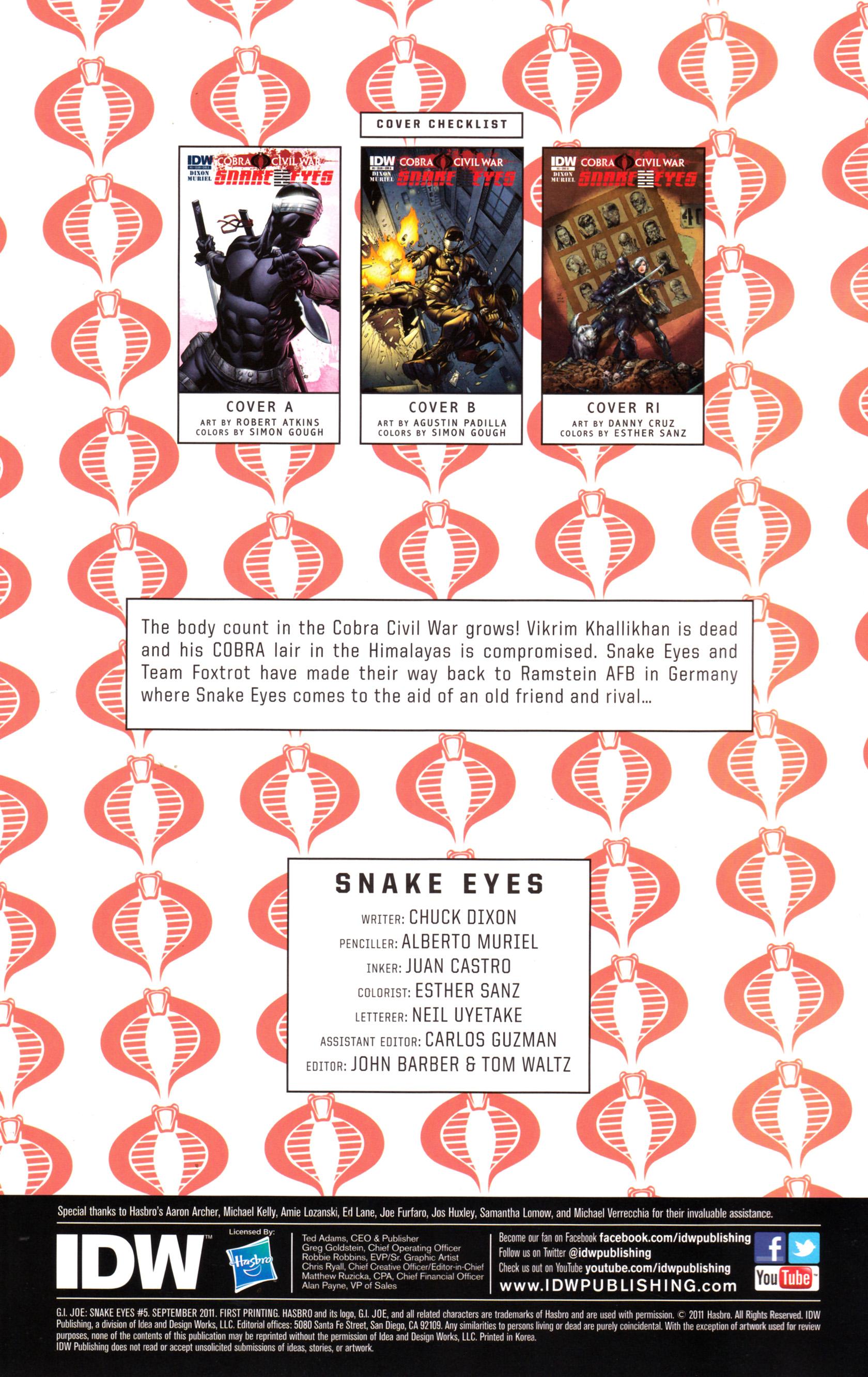 Read online G.I. Joe: Snake Eyes comic -  Issue #5 - 3