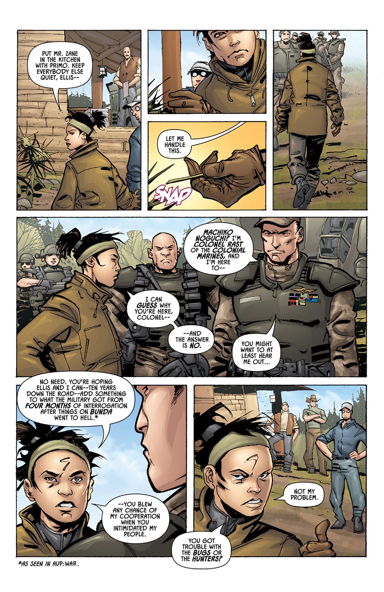 Read online Aliens vs. Predator: Three World War comic -  Issue #1 - 16