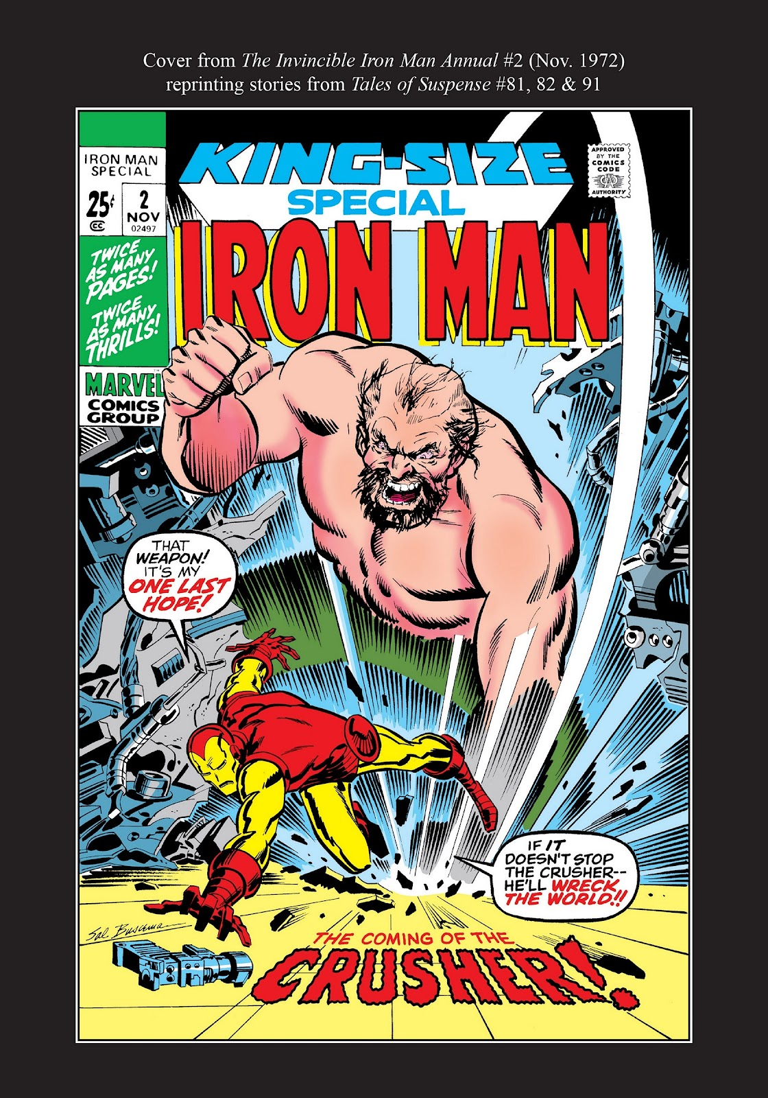 Read online Marvel Masterworks: The Invincible Iron Man comic -  Issue # TPB 8 (Part 3) - 115
