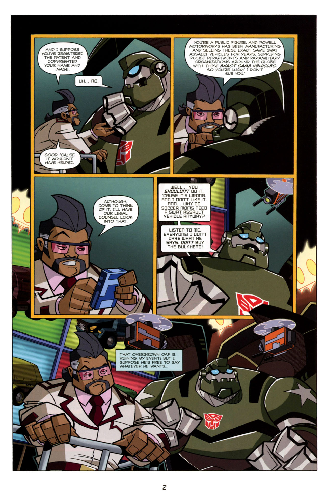 Read online Transformers Animated: The Arrival comic -  Issue #4 - 5
