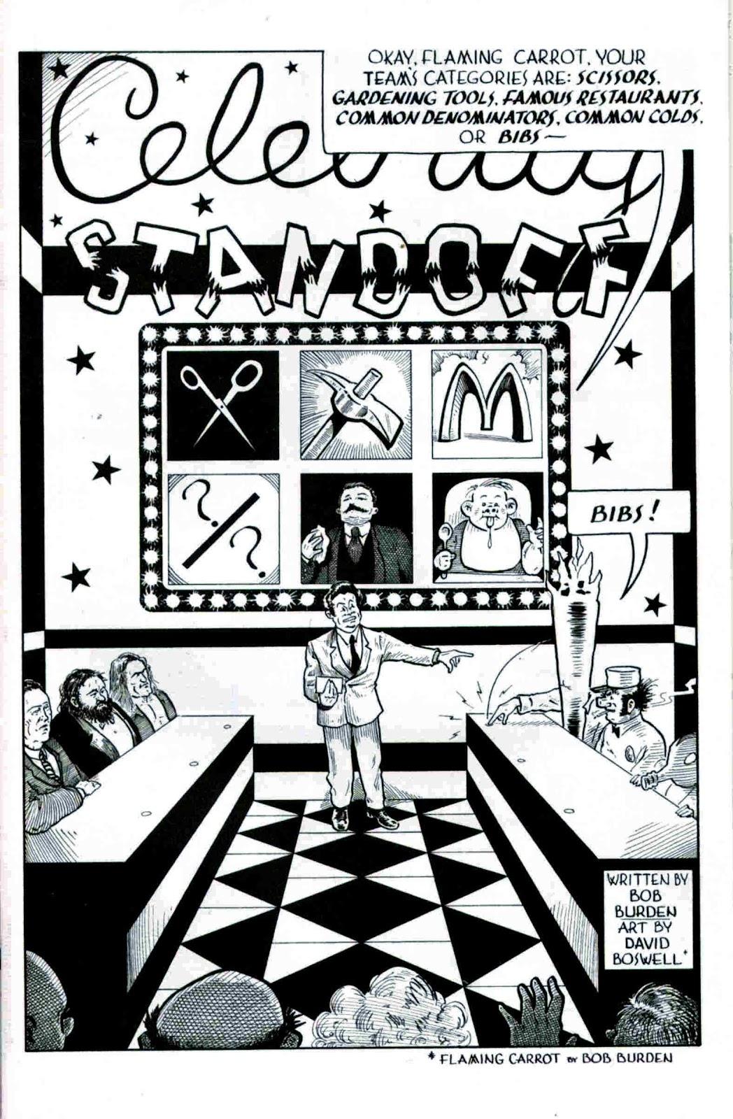 Flaming Carrot & Reid Fleming, Worlds Toughest Milkman Full Page 1