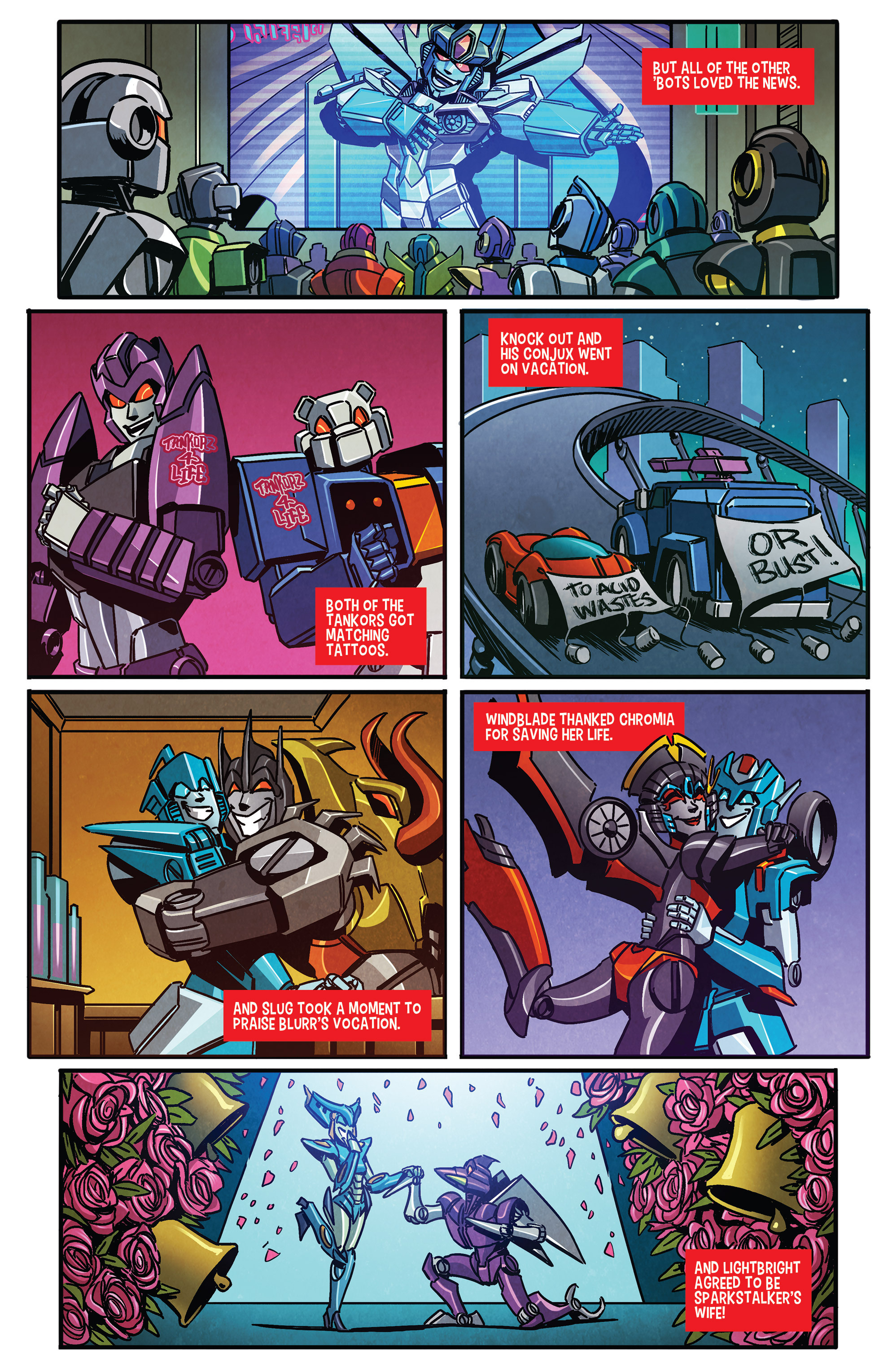Read online Transformers: Holiday Special comic -  Issue # Full - 8
