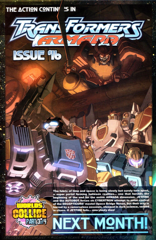 Read online Transformers Armada comic -  Issue #15 - 24