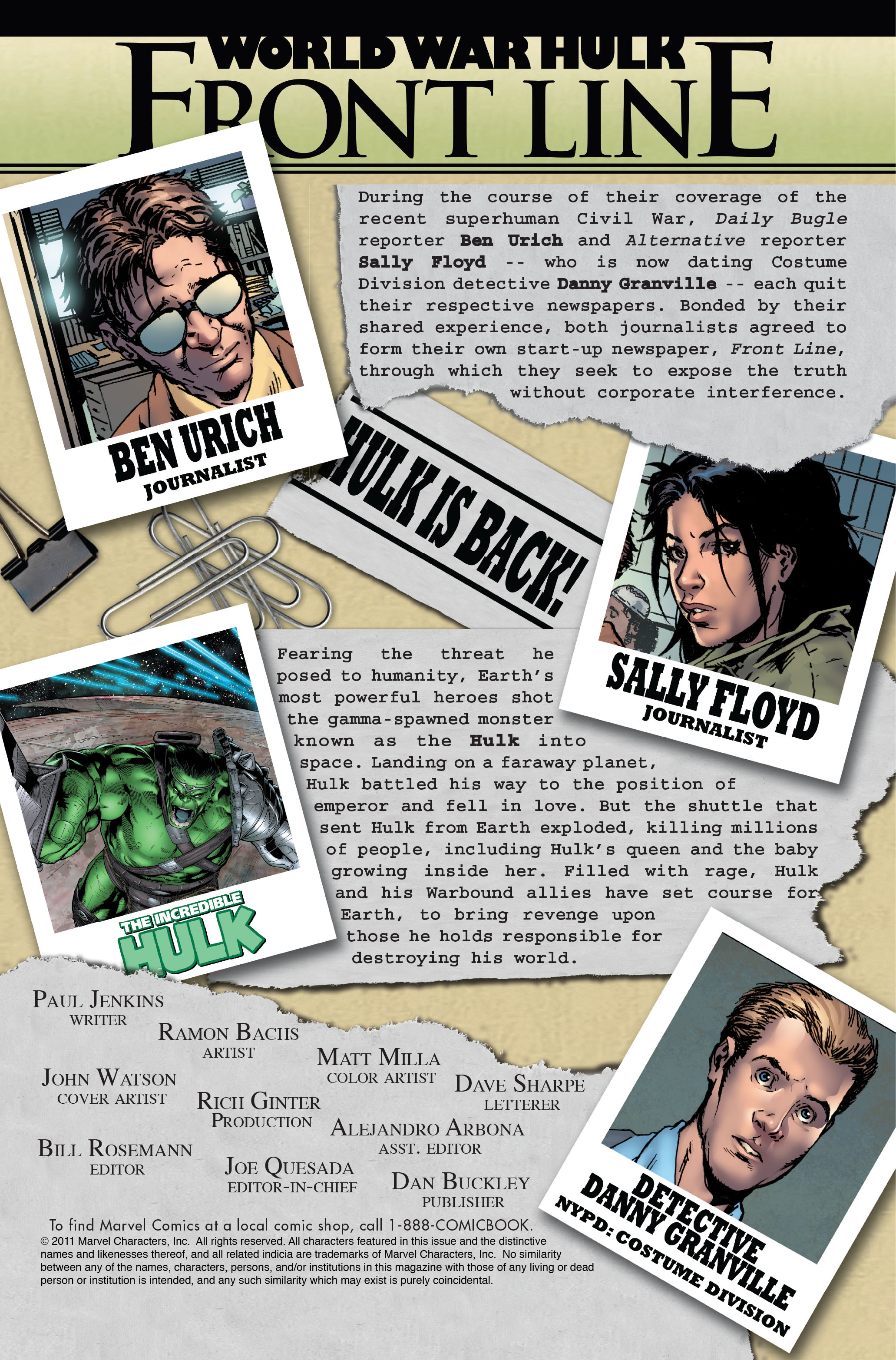 Read online World War Hulk: Front Line comic -  Issue #1 - 2